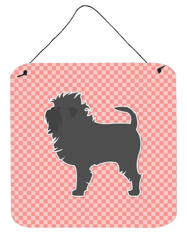 Buy this Affenpinscher Checkerboard Pink Wall or Door Hanging Prints BB3648DS66