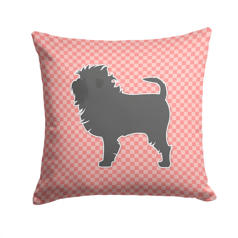 Buy this Affenpinscher Checkerboard Pink Fabric Decorative Pillow BB3648PW1414