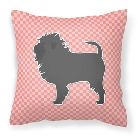 Buy this Affenpinscher Checkerboard Pink Fabric Decorative Pillow BB3648PW1818