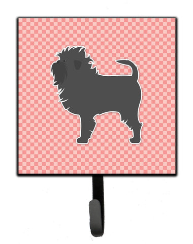 Buy this Affenpinscher Checkerboard Pink Leash or Key Holder BB3648SH4