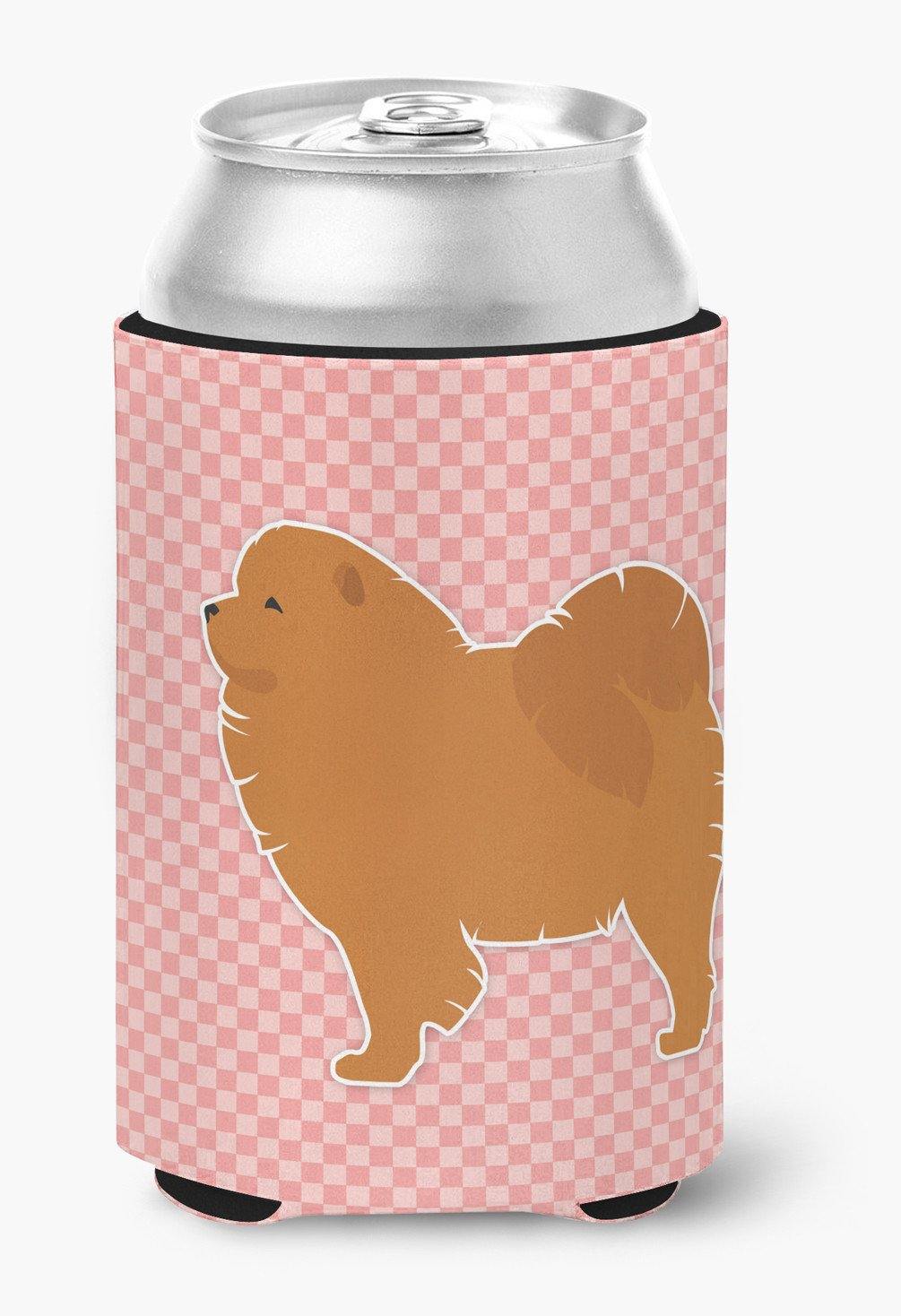Chow Chow Checkerboard Pink Can or Bottle Hugger BB3651CC by Caroline's Treasures