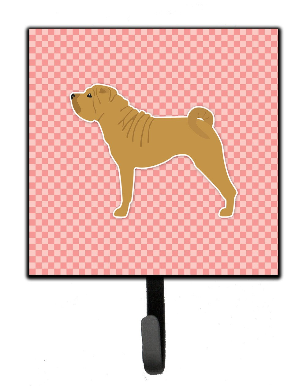 Shar Pei Merry Checkerboard Pink Leash or Key Holder BB3652SH4 by Caroline's Treasures