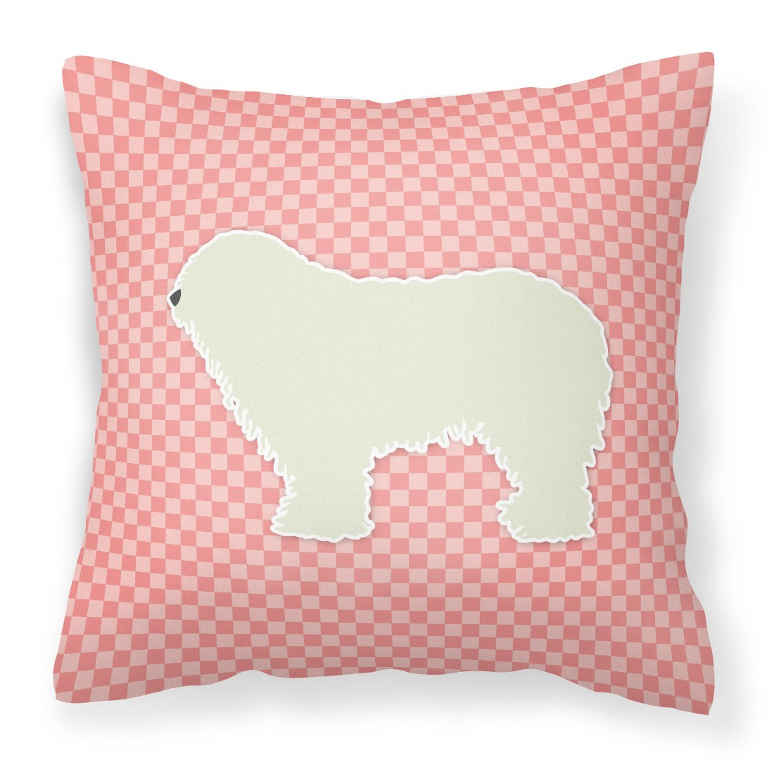 Komondor Checkerboard Pink Fabric Decorative Pillow BB3655PW1818 by Caroline's Treasures