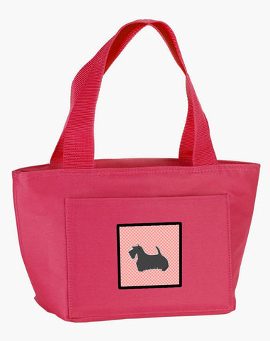 Buy this Scottish Terrier Checkerboard Pink Lunch Bag BB3669PK-8808