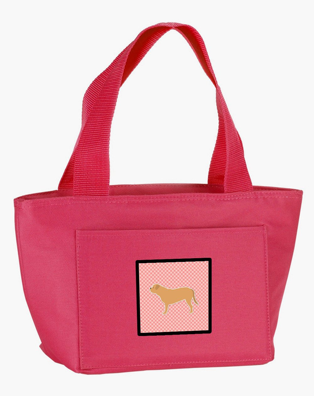 Buy this Dogue de Bordeaux Checkerboard Pink Lunch Bag BB3670PK-8808