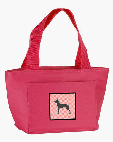 Buy this Great Dane Checkerboard Pink Lunch Bag BB3675PK-8808