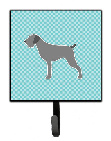 Buy this German Wirehaired Pointer Checkerboard Blue Leash or Key Holder BB3711SH4