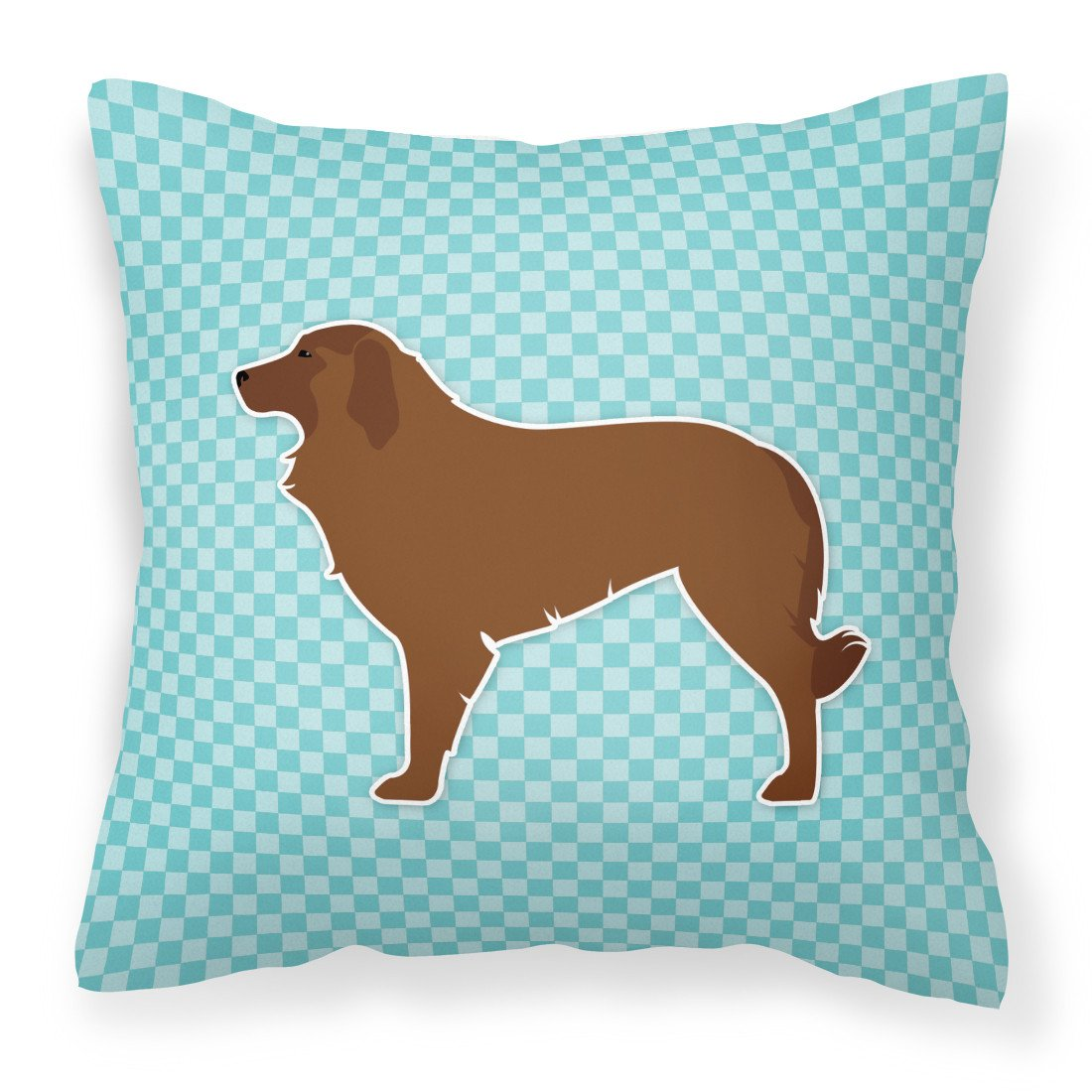 Portuguese Sheepdog Dog Checkerboard Blue Fabric Decorative Pillow BB3731PW1818 by Caroline's Treasures