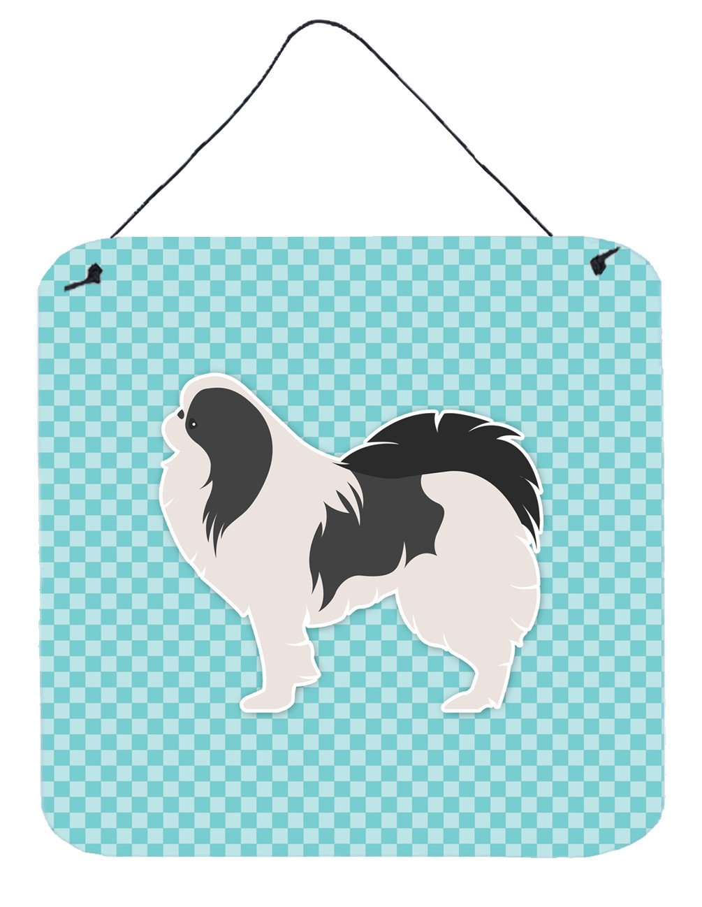 Japanese Chin Checkerboard Blue Wall or Door Hanging Prints BB3737DS66 by Caroline's Treasures