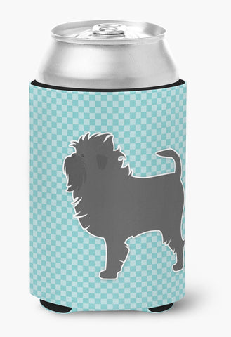 Buy this Affenpinscher Checkerboard Blue Can or Bottle Hugger BB3748CC