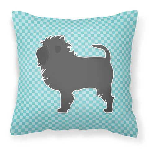 Buy this Affenpinscher Checkerboard Blue Fabric Decorative Pillow BB3748PW1818