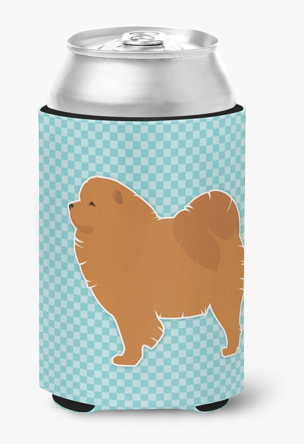 Chow Chow Checkerboard Blue Can or Bottle Hugger BB3751CC by Caroline's Treasures