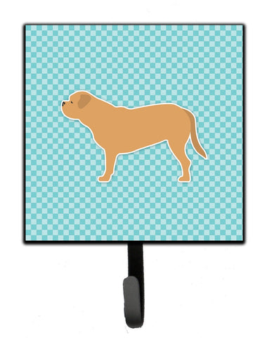 Buy this Dogue de Bordeaux Checkerboard Blue Leash or Key Holder BB3770SH4