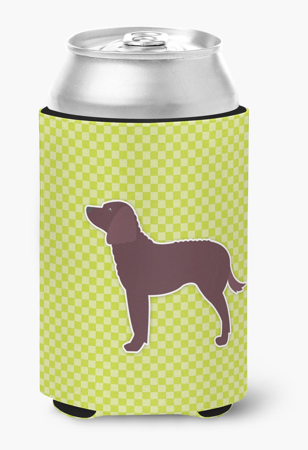 American Water Spaniel Checkerboard Green Can or Bottle Hugger BB3801CC by Caroline's Treasures