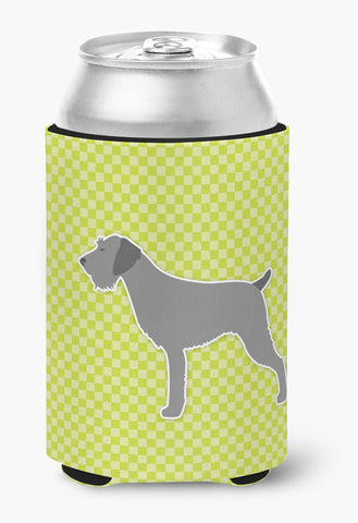 Buy this German Wirehaired Pointer Checkerboard Green Can or Bottle Hugger BB3811CC