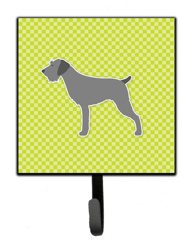 Buy this German Wirehaired Pointer Checkerboard Green Leash or Key Holder BB3811SH4