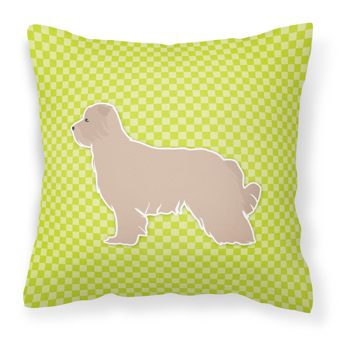 Pyrenean Shepherd Checkerboard Green Fabric Decorative Pillow BB3818PW1818 by Caroline's Treasures