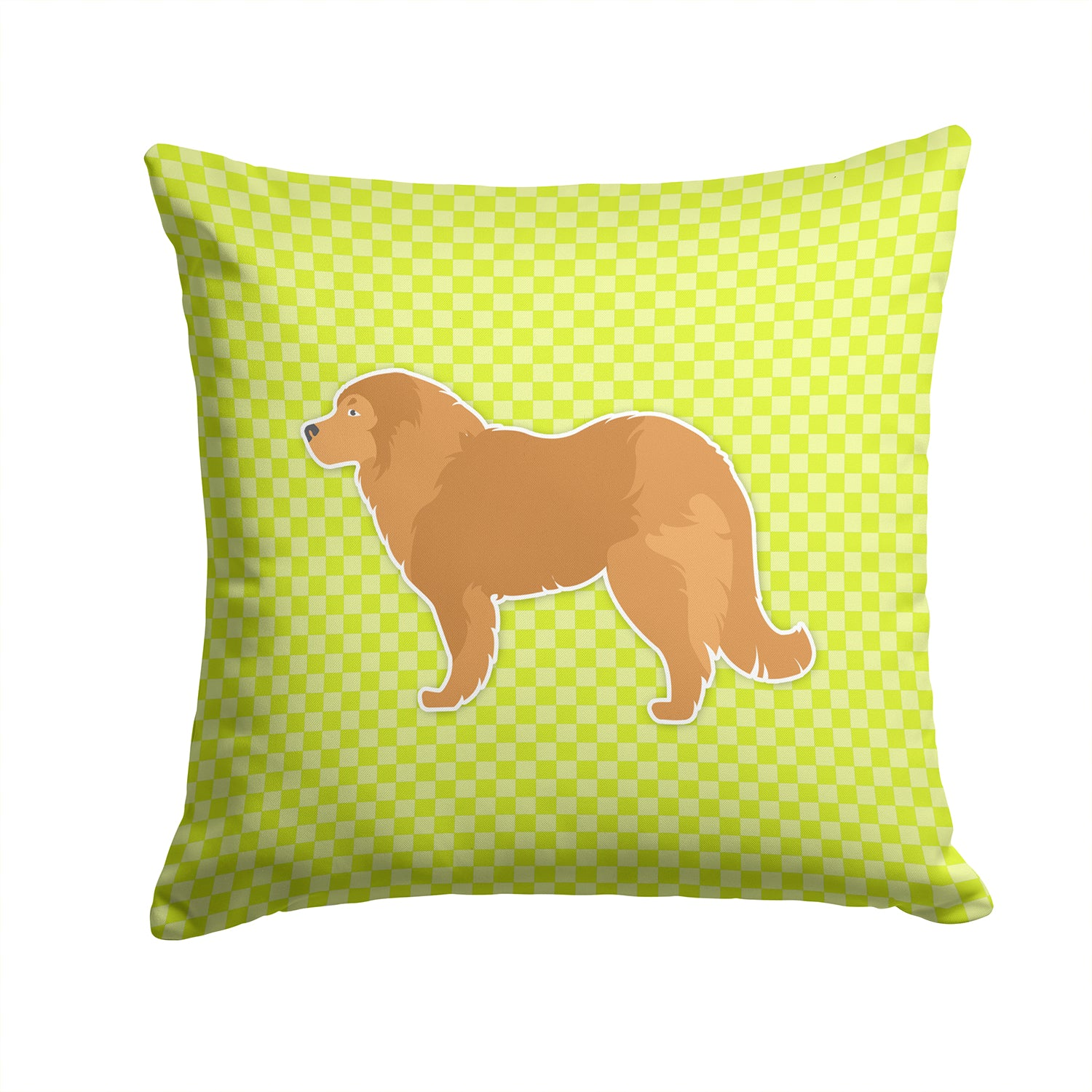 Caucasian Shepherd Dog Checkerboard Green Fabric Decorative Pillow BB3825PW1414 by Caroline's Treasures