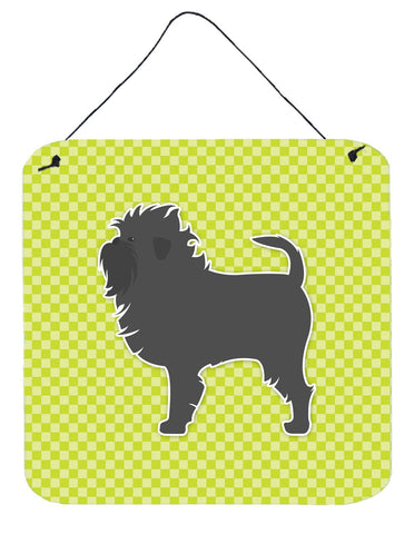Buy this Affenpinscher Checkerboard Green Wall or Door Hanging Prints BB3848DS66