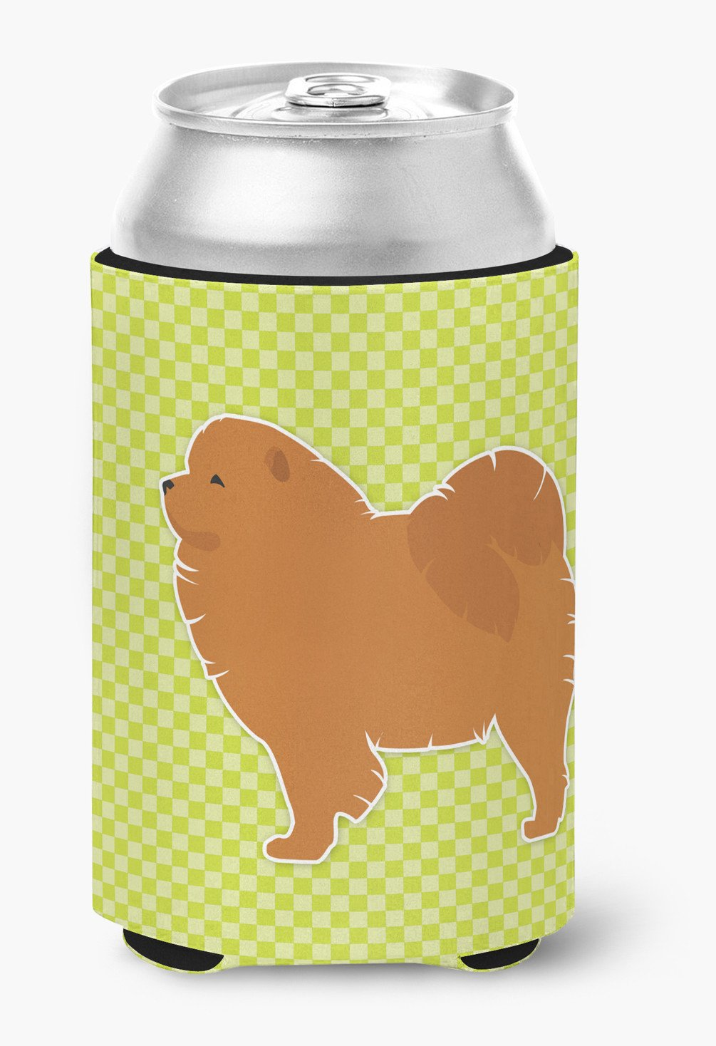 Chow Chow Checkerboard Green Can or Bottle Hugger BB3851CC by Caroline's Treasures