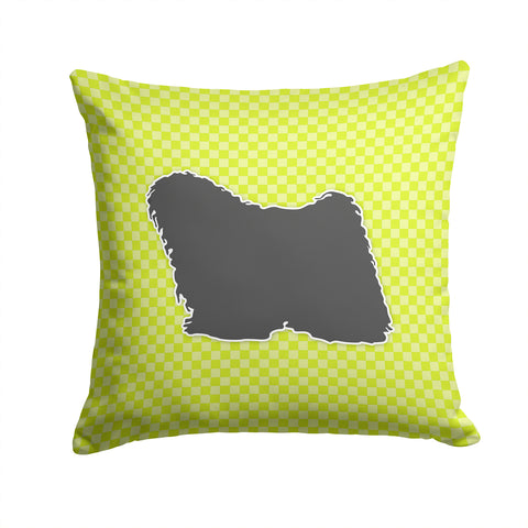 Buy this Puli Checkerboard Green Fabric Decorative Pillow BB3863PW1414