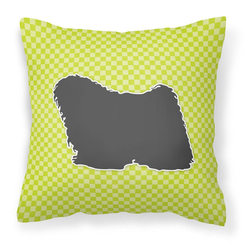 Buy this Puli Checkerboard Green Fabric Decorative Pillow BB3863PW1818