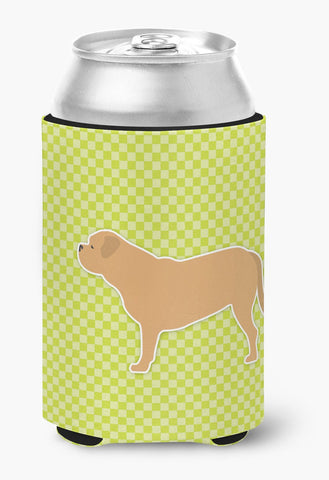 Buy this Dogue de Bordeaux Checkerboard Green Can or Bottle Hugger BB3870CC