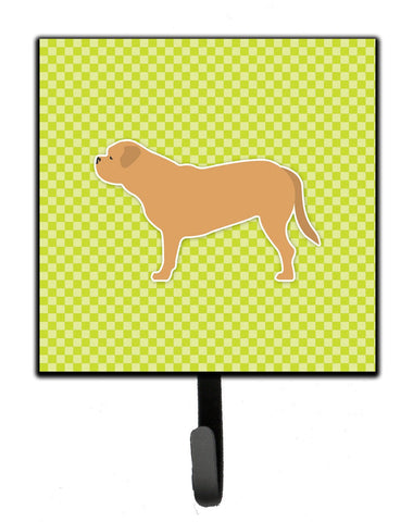 Buy this Dogue de Bordeaux Checkerboard Green Leash or Key Holder BB3870SH4