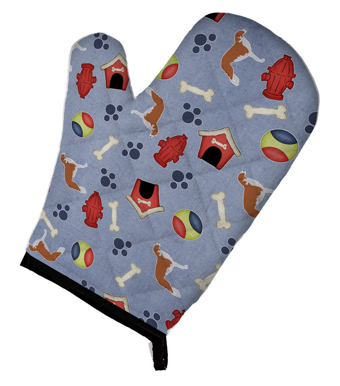 Borzoi Russian Greyhound Dog House Collection Oven Mitt BB3899OVMT by Caroline's Treasures