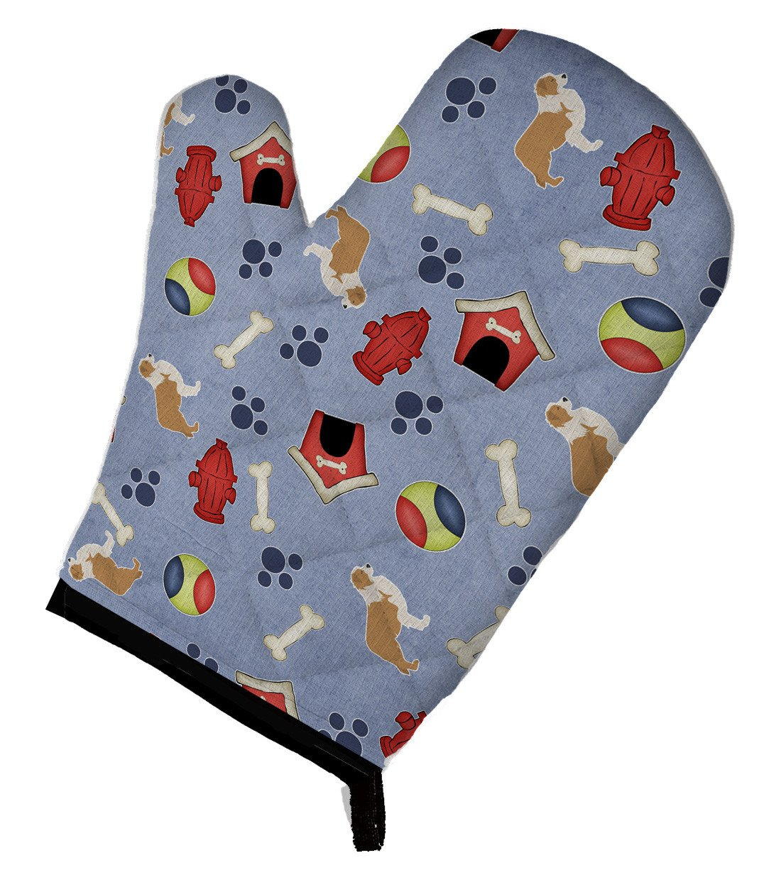 Red Border Collie Dog House Collection Oven Mitt BB3922OVMT by Caroline's Treasures