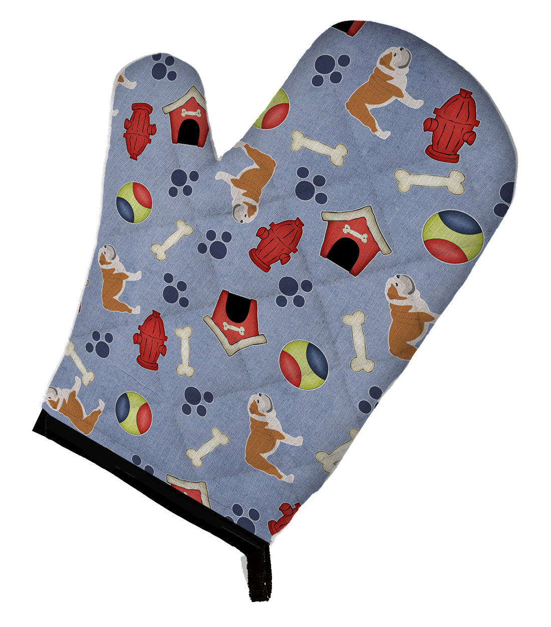 English Bulldog Dog House Collection Oven Mitt BB3962OVMT by Caroline's Treasures