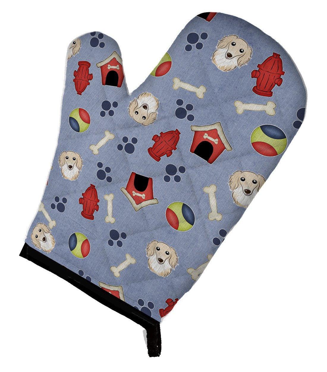 Dog House Collection Longhair Creme Dachshund Oven Mitt BB3991OVMT by Caroline's Treasures