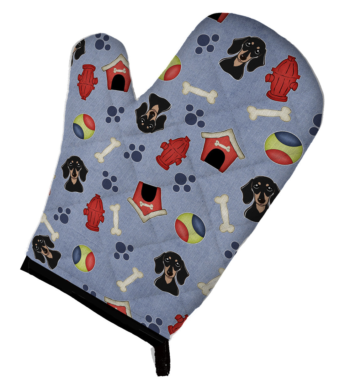 Buy this Dog House Collection Smooth Black and Tan Dachshund Oven Mitt BB3994OVMT