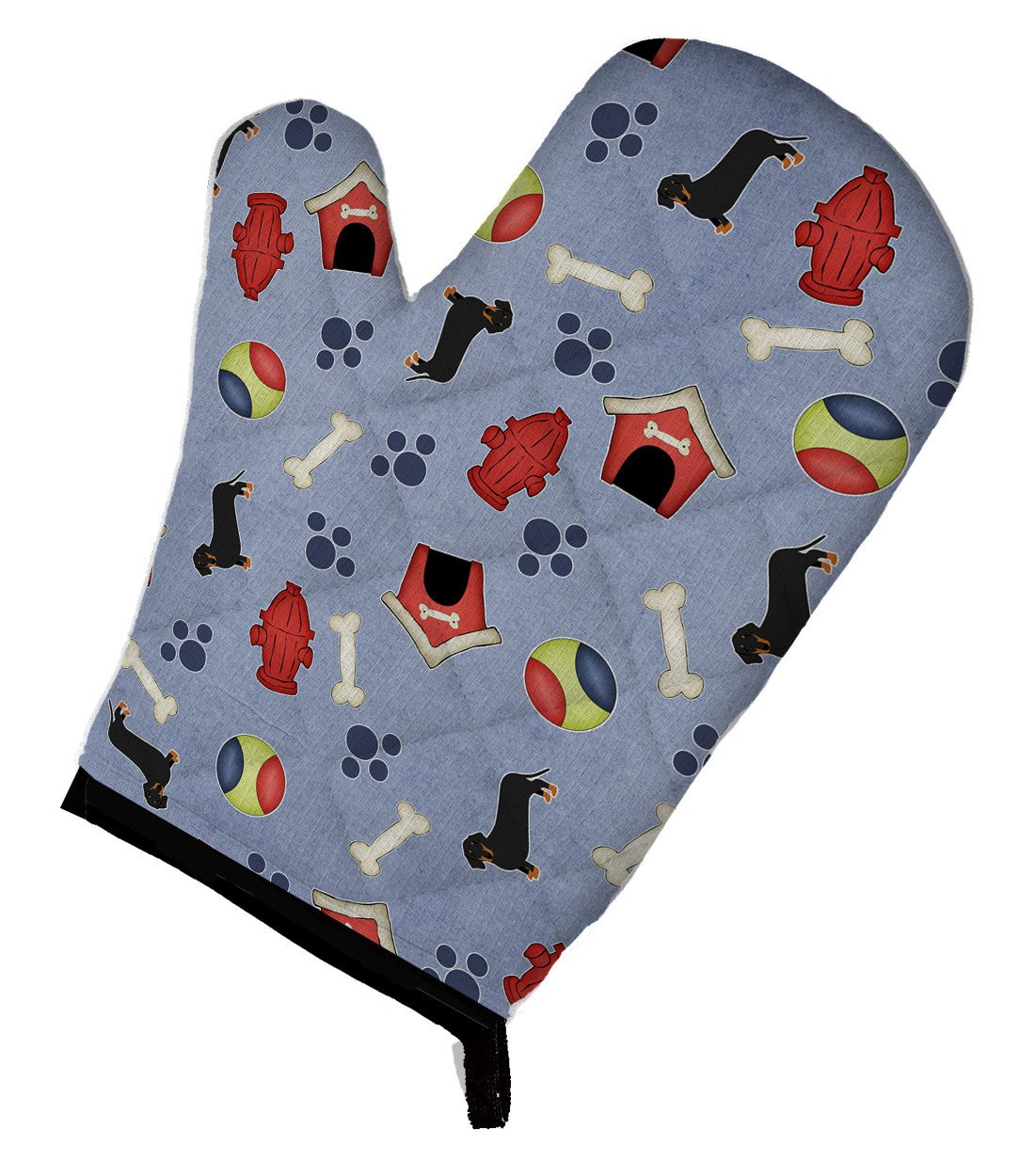 Buy this Dog House Collection Black Tan Dachshund Oven Mitt BB4079OVMT