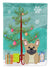 Buy this Merry Christmas Tree French Bulldog Cream Flag Garden Size BB4135GF