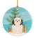 Buy this Merry Christmas Tree Lowchen Ceramic Ornament BB4144CO1
