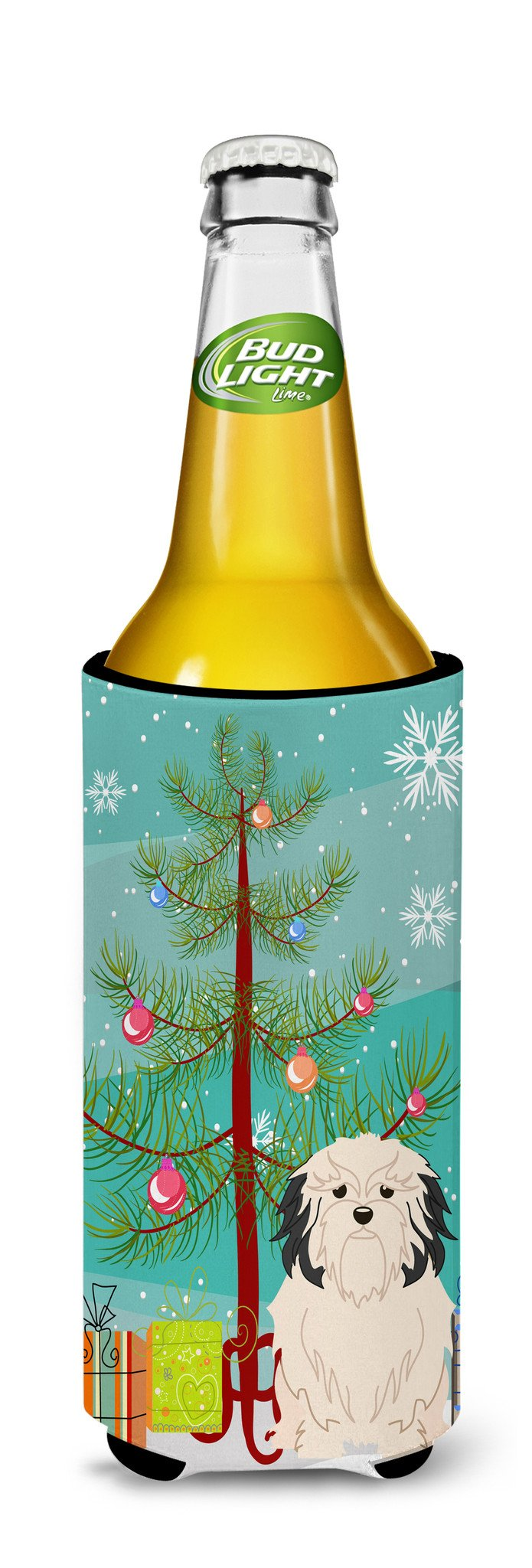 Merry Christmas Tree Lowchen Michelob Ultra Hugger for slim cans BB4144MUK by Caroline's Treasures