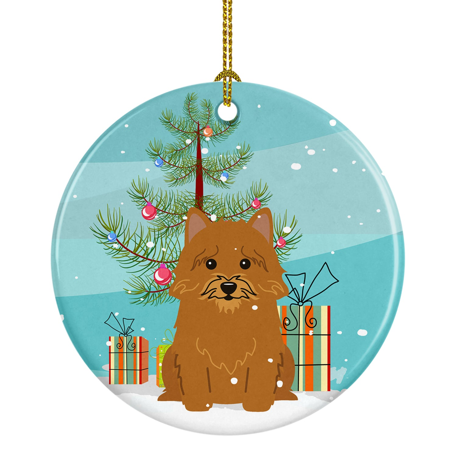 Buy this Merry Christmas Tree Norwich Terrier Ceramic Ornament BB4145CO1