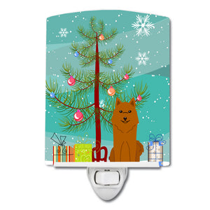 Buy this Merry Christmas Tree Karelian Bear Dog Ceramic Night Light BB4147CNL