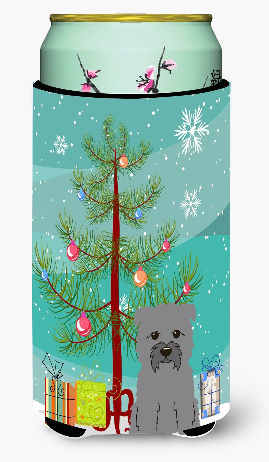 Buy this Merry Christmas Tree Glen of Imal Grey Tall Boy Beverage Insulator Hugger BB4184TBC