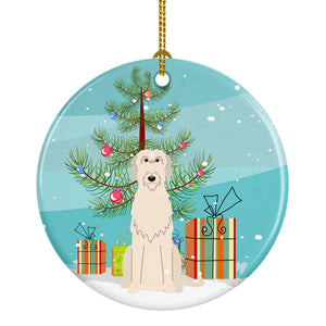 Buy this Merry Christmas Tree Irish Wolfhound Ceramic Ornament BB4190CO1