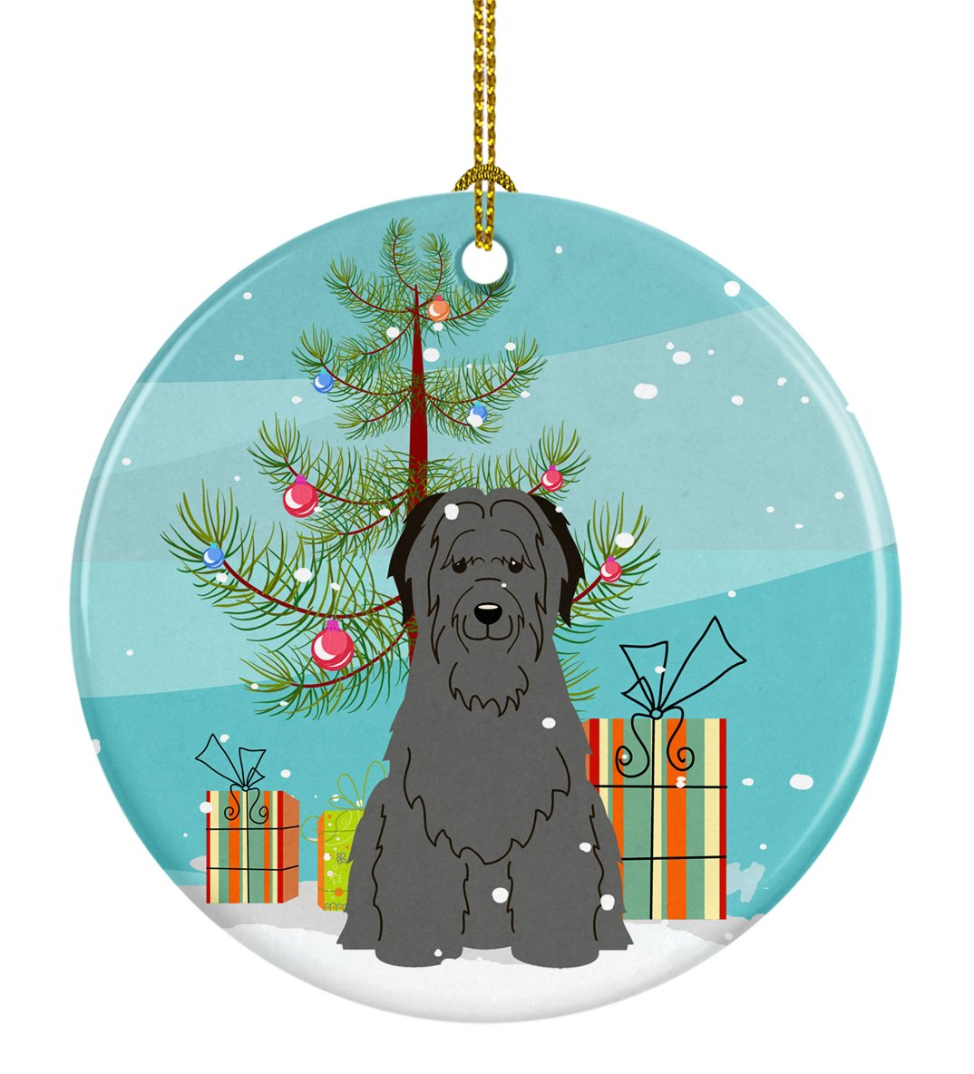 Buy this Merry Christmas Tree Briard Black Ceramic Ornament BB4206CO1