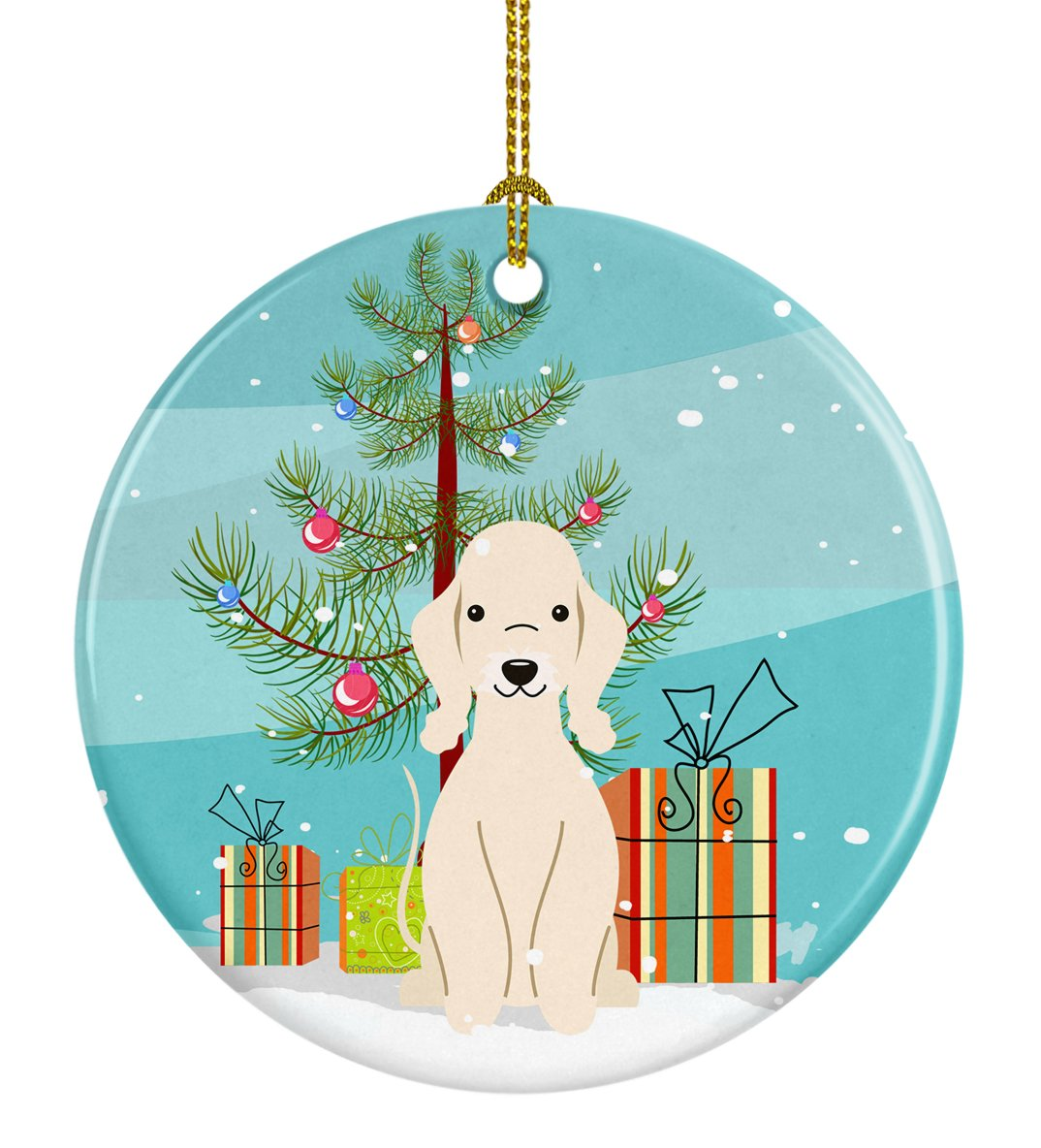 Buy this Merry Christmas Tree Bedlington Terrier Sandy Ceramic Ornament BB4216CO1