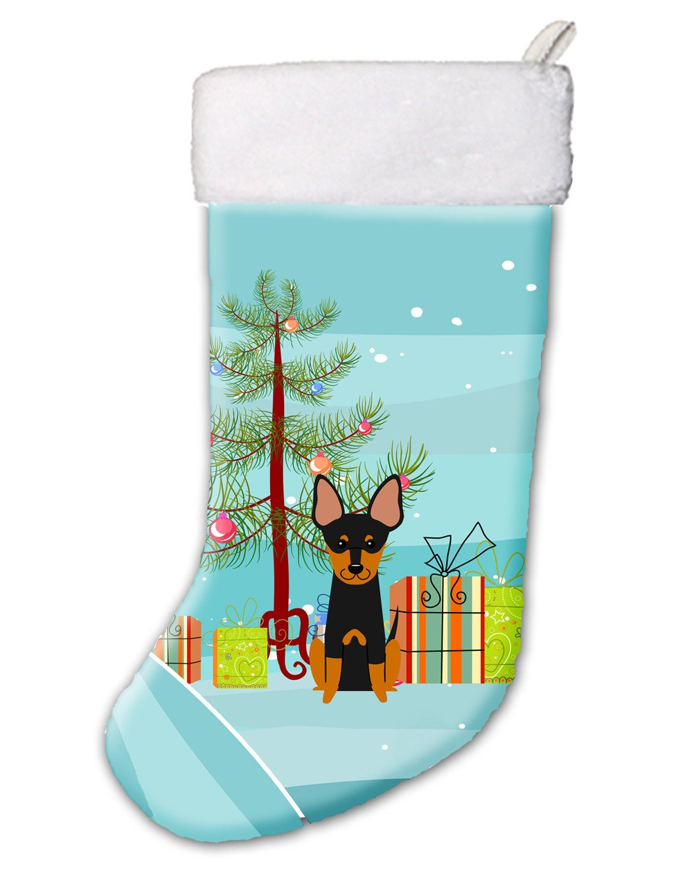 Merry Christmas Tree English Toy Terrier Christmas Stocking BB4234CS by Caroline's Treasures