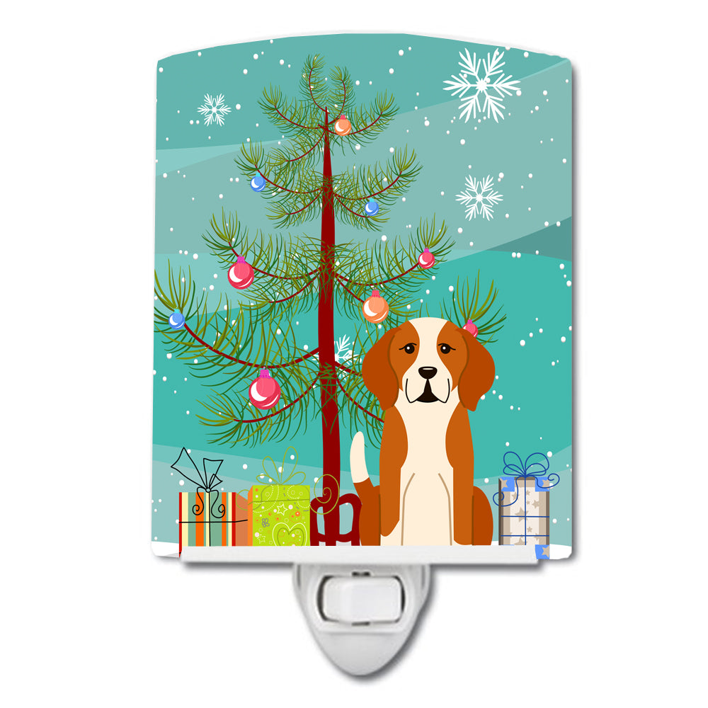 Merry Christmas Tree English Foxhound Ceramic Night Light BB4235CNL by Caroline's Treasures