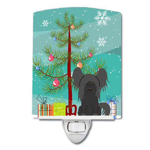 Buy this Merry Christmas Tree Chinese Crested Black Ceramic Night Light BB4237CNL