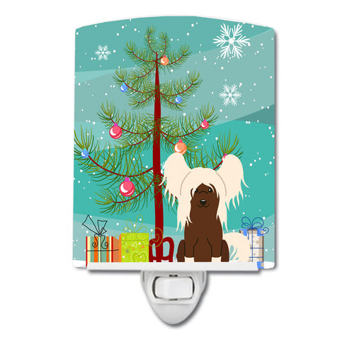 Buy this Merry Christmas Tree Chinese Crested Cream Ceramic Night Light BB4238CNL
