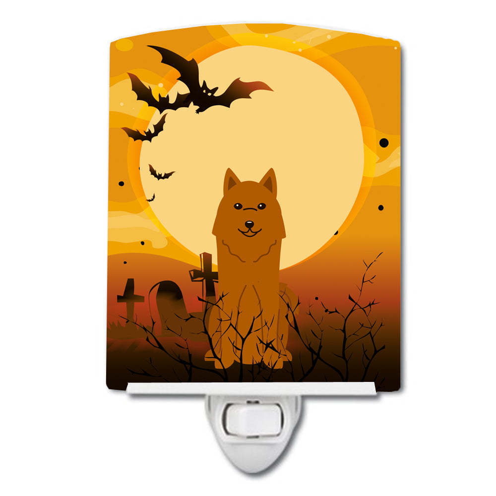 Halloween Karelian Bear Dog Ceramic Night Light BB4288CNL by Caroline's Treasures