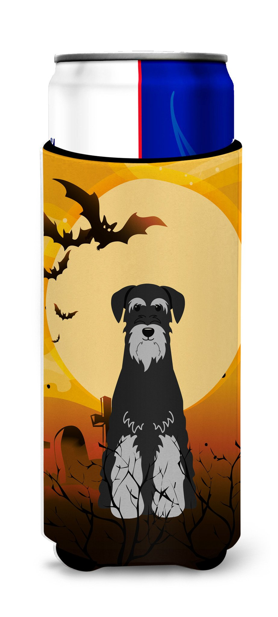 Halloween Standard Schnauzer Black Grey Michelob Ultra Hugger for slim cans BB4300MUK by Caroline's Treasures