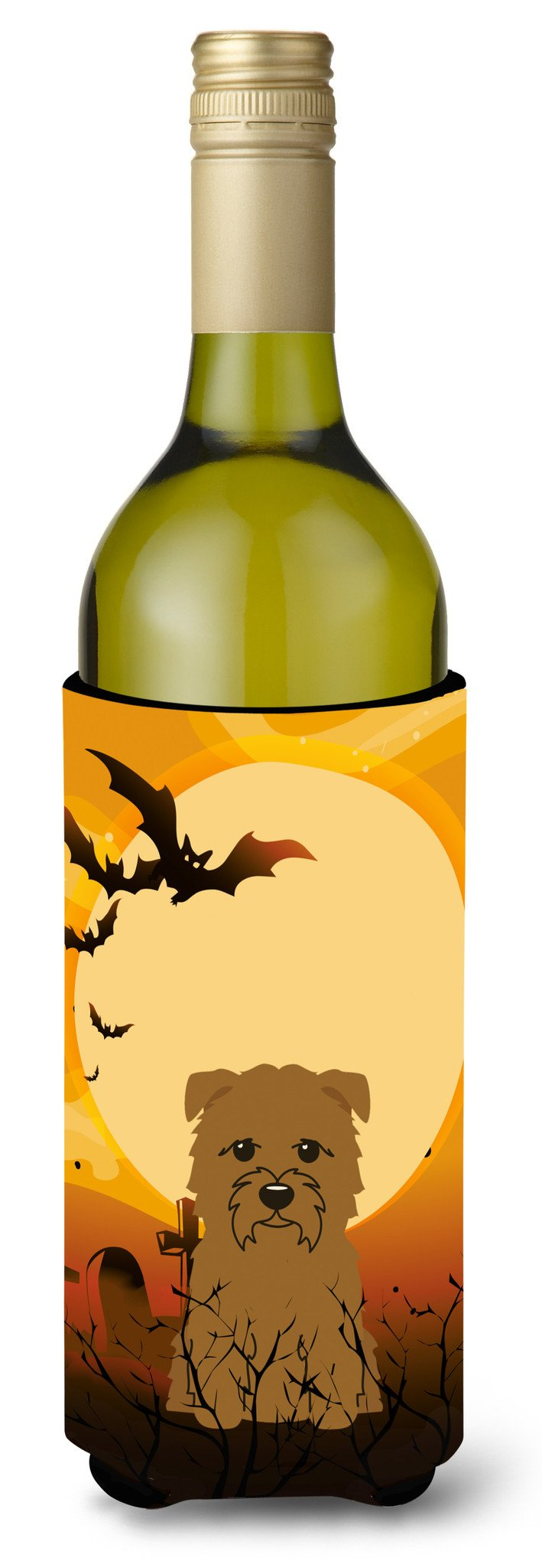 Halloween Glen of Imal Tan Wine Bottle Beverge Insulator Hugger BB4326LITERK by Caroline's Treasures